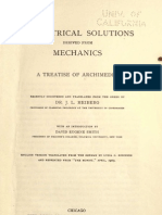 Geometrical Solutions. Derived From Mechanics. a Treatise of Archimedes. J. L. Heiberg