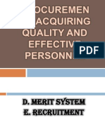 Procurement - Acquiring Quality and Effective Personnel
