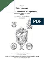 1866 VAN DER HAEGEN Histoire de La Gilde Souveraine Des Couleuvriniers Cannoniers a Gand