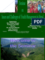 Issues n Chalenges in Health Management