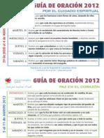 Guía Oración Agosto 2012