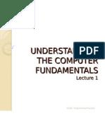 Understanding the Computer Fundamentals