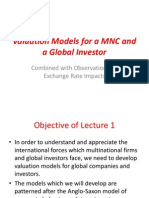 01 INBU 4200 Fall 2010 Lecture 1 Valuation Model for a MNC