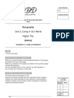 GCSE GEOG REVISED PP MayJune 2010 Higher Tier Unit 2 Living in Our World 7768