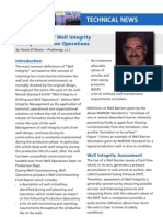 SPE - Management of Well Integrity During Production Operations