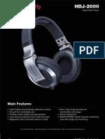Pioneer HDJ-2000 Brochure