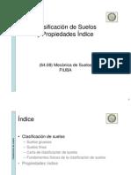 Clasificacion de Suelos y Propiedades Indice