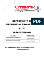 Arc Weld Report