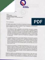 Carta de Respuesta al Oficio SM821