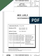 MCS - LCB II List of Parameters