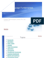 Language Fundamentals C#