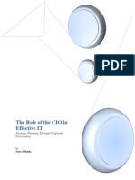 Role of the CIO in Effective IT