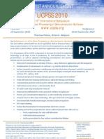 UCPSS2010 Announcement