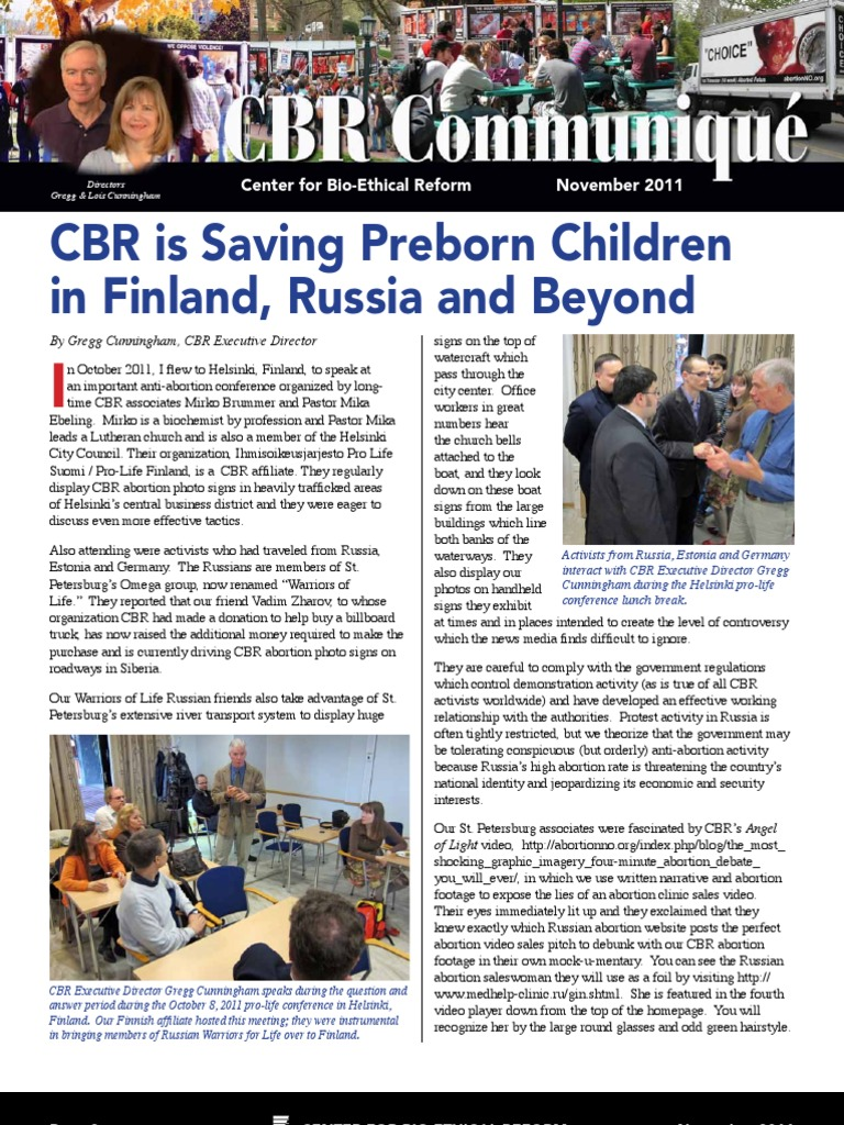 CBR is Saving Preborn Children in Finland, Russia and Beyond