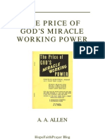 The Price of God's Miracle Working Power - AA Allen