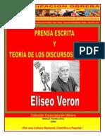 Libro No. 330. Prensa Escrita y Teoría de los Discursos Sociales. Veron, Eliseo. Colección Emancipación Obrera. Julio 28 de 2012