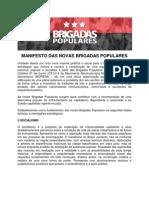 Manifesto Das Novas Brigadas Populares