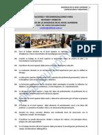 158. ANOTACIONES Y RECOMENDACIONES PARA LA DOCENCIA EN EL NIVEL SUPERIOR