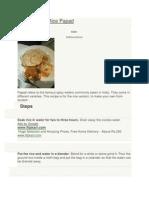 How to Make Rice Papad