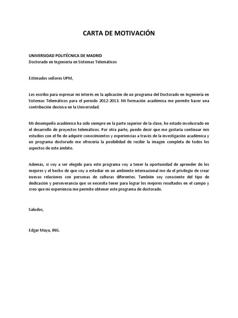 Artesanato Ideias De Natal ~ CARTA DE MOTIVACIÓN