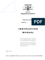 KEPCO JQE 6-22(M) Instruction