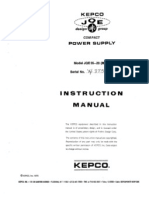 KEPCO JQE55-20M Instruction Manual