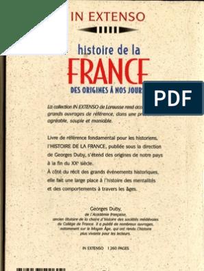Georges Duby Histoire De La France