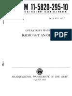TM 11-5820-295-10 an-GRC-19 Radio Set - Operators Manual (1963)
