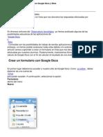 Crear Cuestionarios en Linea Con Google Docs y Sites