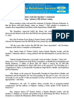 july28.2012_b Lawmakers welcome Speaker's statement on Aug. 7 plenary RH debate voting