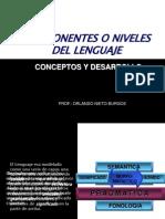 componentesonivelesdellenguaje-100312170445-phpapp02