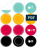 Whimsy Label Circle Stickers Dotted