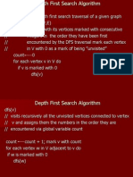 Depth First Search Alg