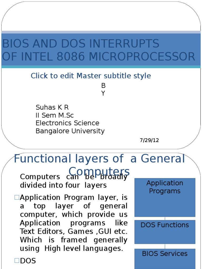 BIOS and Dos Interrupts | Bios | Dos