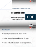 Blackhat USA 2012 - The Line 8 Subway - Exploitation of Windows 8 Metro Style App (Slides)