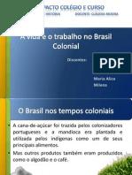 A Vida e o Trabalho No Brasil Colonial