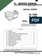 Sharp Digital Copier AL-1020,1200,1220,1250 Parts & Service