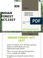Amendments in Indian Forest Act,1927