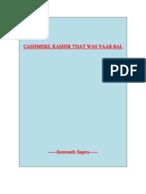 Cashmere - Kashir That Was Yaarbal