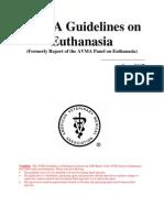AVMA recommended euthanasia methods