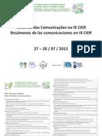 IX Congresso Ibérico de Estudos Rurais - Indice de Resumos