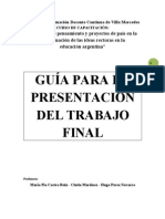 Requisitos Para Trabajo Final