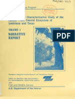 Ecological Characterization Study Chenier Plain Texas Louisiana vol. 1