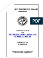 Seminar Report_Artificial Intelligence in Power Station