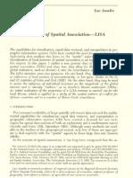 Local Indicators of Spatial Association-LISA
