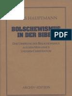 Hauptmann, Hans - Bolschewismus in der Bibel, Der Ursprung des Bolschewismus aus dem Mosaismus und dem Christentum