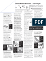Laminate Installation Instructions - Tile Look