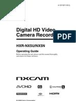 Manual Sony HXR-NX5U