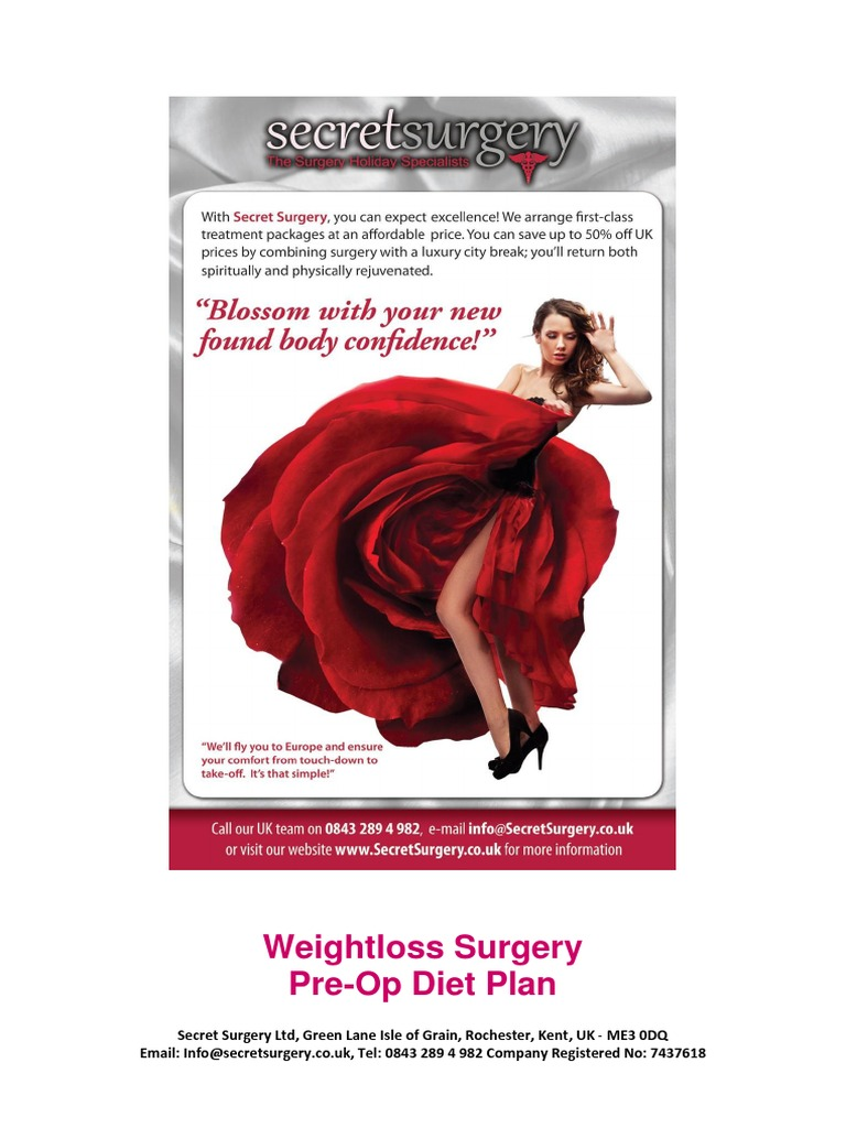 Bariatric Surgery Pre Operative Liver Reduction Diet Bariatric
