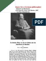 1907 A military obituary for a German philosopher  Eduard von Hartmann in Jahrbücher für deutsche Armee und Marine